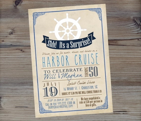Items Similar To Nautical Birthday Invitation