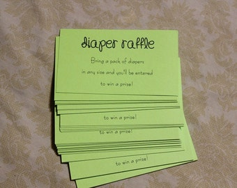 Ticket Shape Diaper Raffle Ticket Invitation