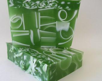 Soap Loaf - Curve for Men – 1 lb Handmade Glycerin Soap - Blue or Green Men's Soap
