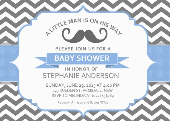 diy printable ms word baby shower invitation template bs 107 little