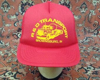 Vintage R & D Transport - Brownsburg, IN Trucker Hat
