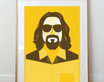 The Dude // Big Lebowski Poster // Portrait // 11 x 17 // A3 // RIBBA 290 x 390mm