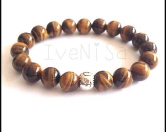 fathers day gift. men bracelet. stretch bracelet. tiger eye bracelet. elastic bracelet. tiger eye bead. men bracelet. handmade bracelet.