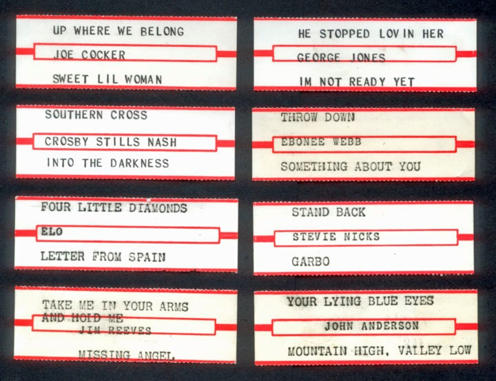Retro Jukebox Labels White Collage Mixed Media By Rubydogart