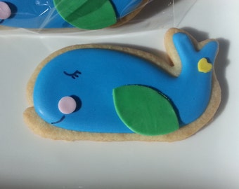 Baby Whale Cookies