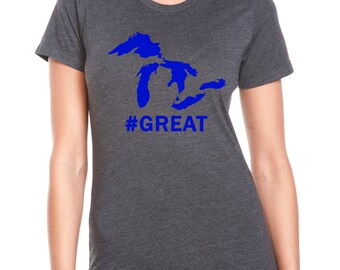Womens Michigan Great Lakes Shirt.  #Great