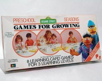 Sesame Street Games for Growing  Preschool Seasons 1986 COMPLETE