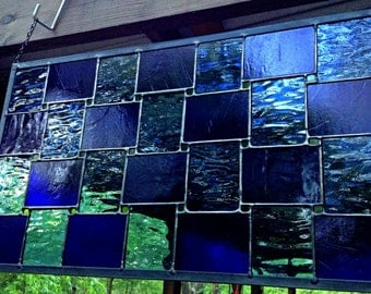 Stained Glass Panel Blues