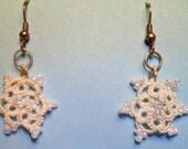 Tatted Snowflake Earrings