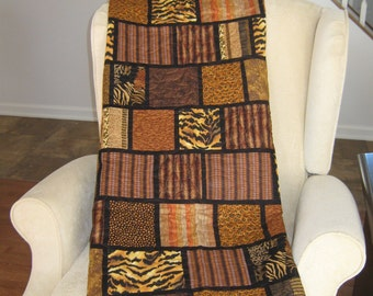 FREE SHIPPING on this Animal print lap quilt
