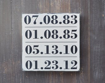 Custom Wood Speical Date Sign, Bridal Shower Gift, Wedding Gift, Anniversary gift, Engagement Gift, Important Date Sign