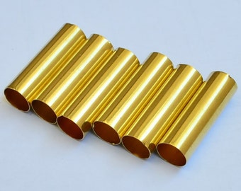 25 Pieces Raw Brass 8x25 mm Brass Tube Connectors