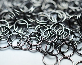 1200 PiecesGunmetal Color Jump Rings Connector 7 mm thickness of 0.8 mm