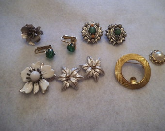 DESTASH Vintage Earrings, Pins for Repurpose Steam Punk