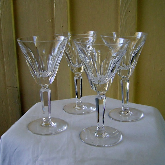4 Waterford Crystal Claret Wine Glass Sheile By