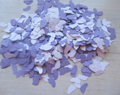Purple and White Baby Feet Confetti, Baby Shower Table Decoration - 1000 Pieces, 2 oz
