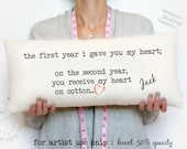2nd Wedding Anniversary Gifts For Him Modern : 2nd anniversary cotton gift, gift for him, gift for her, the second ...