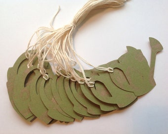 SUPER CLEARANCE - 20 Die Cut Sprinkling Can Gift / Merchandise Tags (836)