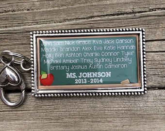 Personalized Teacher Keychain With Students Names and Year/Teacher Appreciation School Gift/Custom Teacher Gift