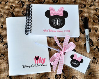 Gift Set Disneyland Autograph Book Personalized with Monogram