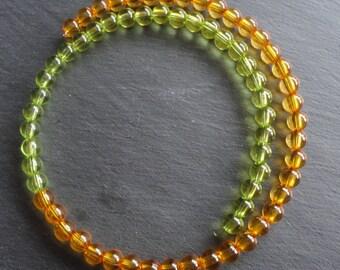 Necklace orange yellow