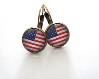 Earring United States of America USA