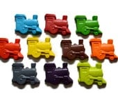 Train Crayons set of 10 - train party - party favors
