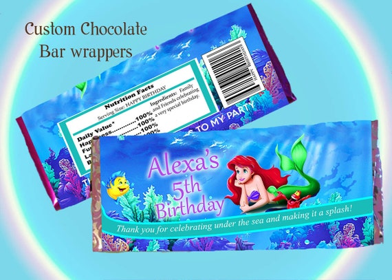 Items Similar To Chocolate Bar Wrapper Little Mermaid
