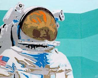 Fine Art Print of Original Painting - Astronaut