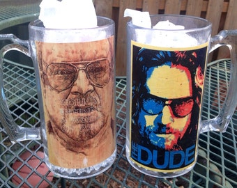 The Big Lebowski Beer Mug Set The Dude and Walter