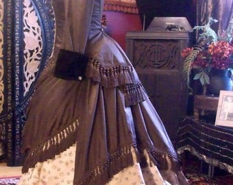 SALE One Time Only HALF Off! Beautiful Victorian Gothic Custom Made For You Silk Tassel Gown Dress Steampunk