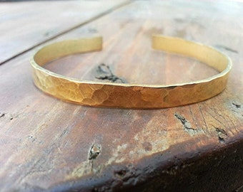 Textured Hidden Message Hand Stamped Cuff Bracelet...1/4 inch, Gold Tone, Secret Message,Mom Jewelry, Kid's Names,Stacking Bracelet