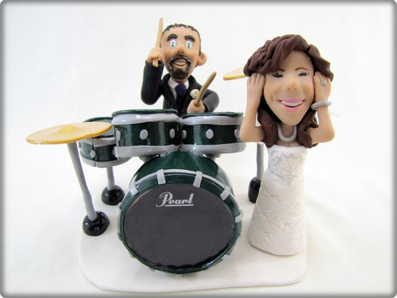 drummer wedding cake topper items similar to deposit only drummer custom wedding 13755
