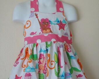 Girls MERMAID  halter  birthday   dress 3T