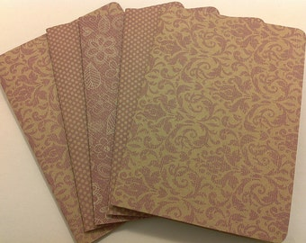 Pink Simplicity / blank note card set
