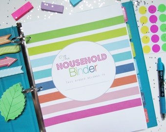 25% OFF Household Binder Printable Planner - INSTANT DOWNLOAD - Home Management, Homekeeping, Finance, Cleaning, To Do