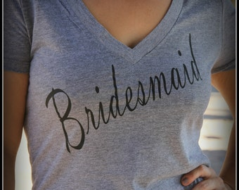 Bridesmaid Shirt, Bride Shirt, Wifey Shirt, Bridal Shirt, Bridal Shower Gift, Wedding, Bachlorette Gift