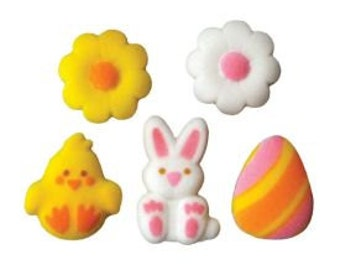Lovable Easter Assorted Dec-ons add just the right touch to your Easter treats.