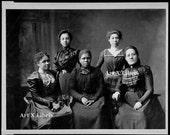 Vintage African American Ladies * Vintage Black and White Photo* DIgital Download