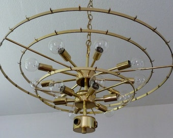 Vintage 3 tier Sputnik style Wedding Cake Chandelier