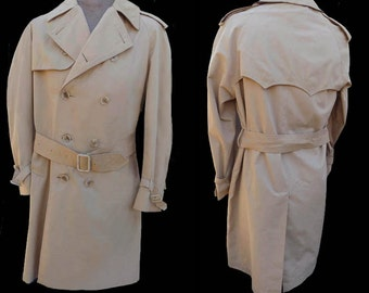 VTG 80s Coat Trench Invertere Light Infanbry Newton Abbot  All weather  DB Made England