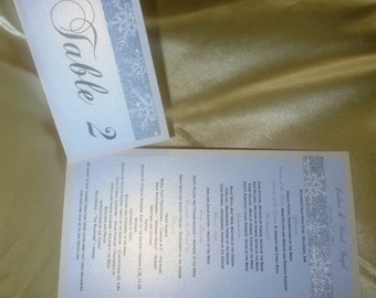Luxury Wedding Program and Table Number