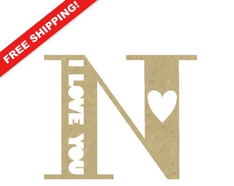 3 d large wooden letter n 12 inch tall distressed for Small wooden letters for crafts