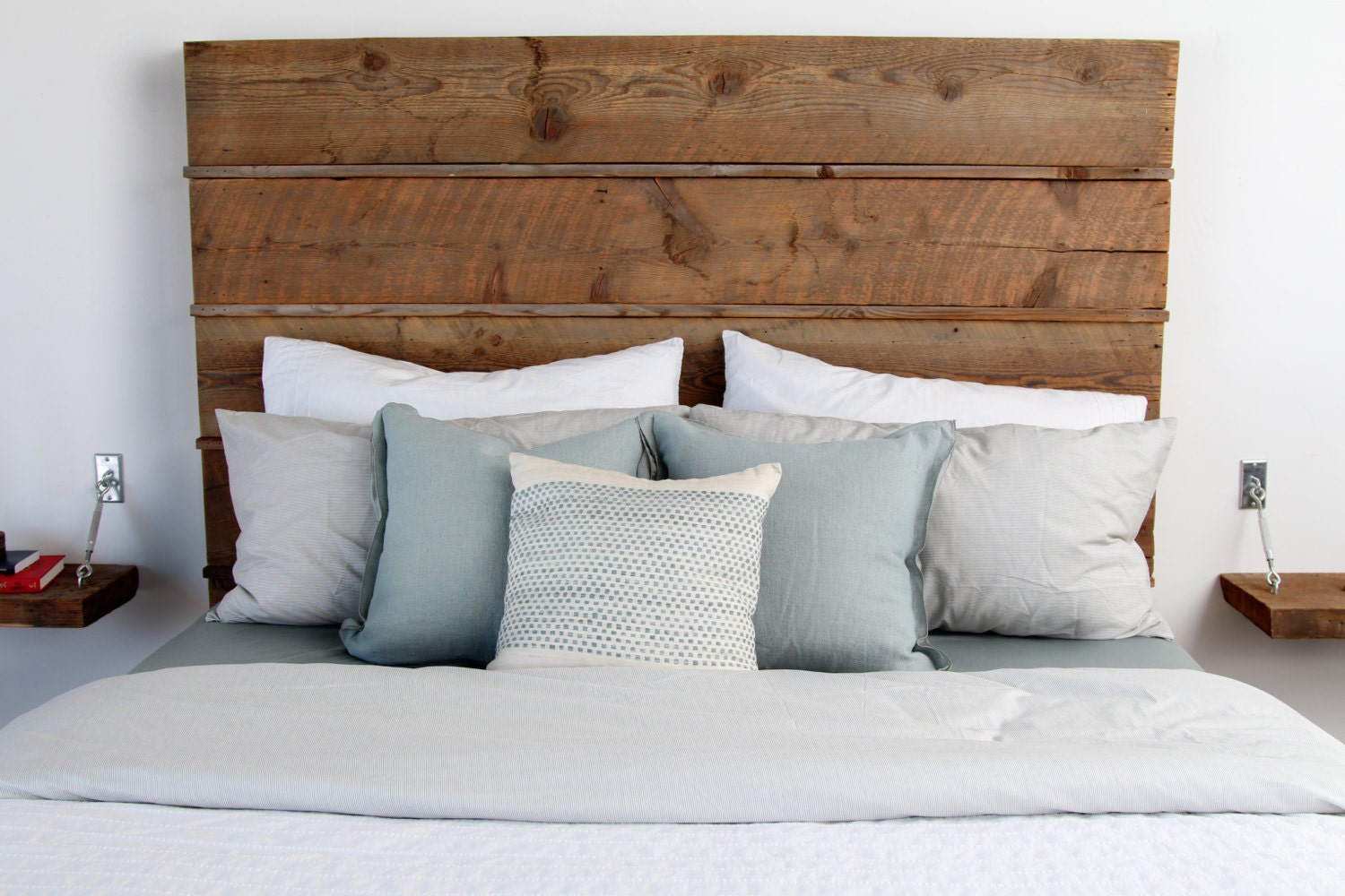 Reclaimed Barn Wood Headboard By Silicatestudio On Etsy