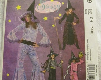 McCall's M5209 UNCUT Pattern / Girl Witch Costumes / Sizes 7, 8 &10 / Sassy Girl