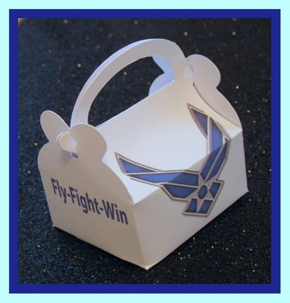 Air force party favor boxes air force promotion favors for Air force decoration