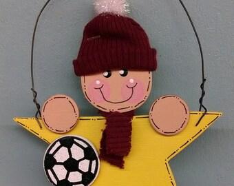 Sports Star Kid Soccer Ornament