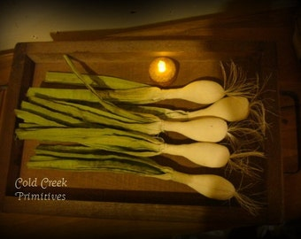 Primitive Green Onions/Scallions Set of 5