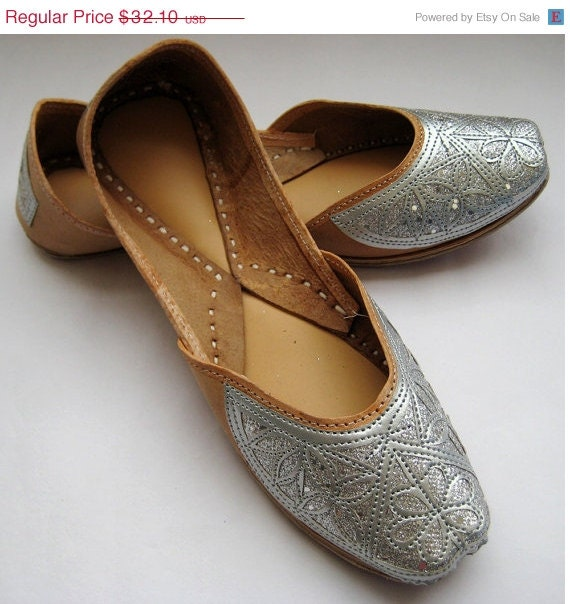 Silver Sequin Bridal Ballet Flats / Wedding by FootSoles ...
