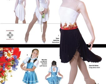 Jalie Dance & Freestyle Skating Dress Sewing Pattern # 2917 in 22 Sizes Women and Girls